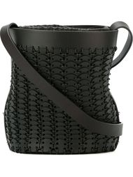 сумка с плетеным эффектом Paco Rabanne