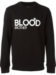 толстовка с принтом логотипа Blood Brother