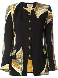пиджак с лоскутным узором Hermès Vintage