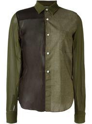 рубашка с панельным дизайном Comme Des Garçons Vintage