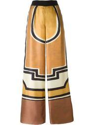 брюки-палаццо с геометрическим принтом Alberta Ferretti