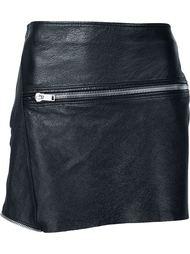 мини-юбка с декоративной молнией Saint Laurent