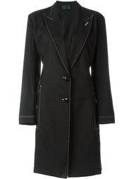 пальто в тонкую полоскку Jean Paul Gaultier Vintage