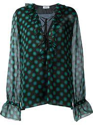 блузка свободного кроя с рюшами  Au Jour Le Jour