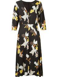платье миди с цветочным принтом Andrea Marques