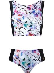 printed crop top bikini set Brigitte