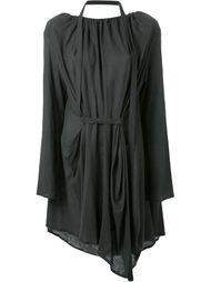 платье со сборками на вырезе Assin
