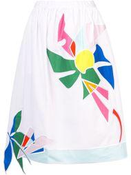 юбка с цветочными элементами Mira Mikati