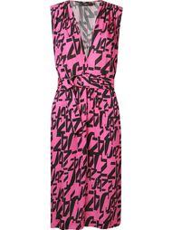 платье с V-образным вырезом и  графическим принтом Andrea Marques