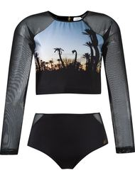 cropped top and hot pants set Brigitte