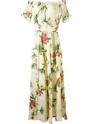 длинное платье с открытыми плечами Isolda