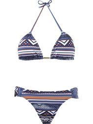 geometric print triangle top bikini set Brigitte