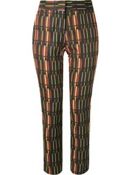 mid-rise printed straight trousers Andrea Marques