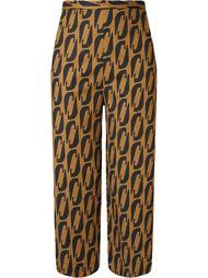 укороченные брюки с высокой талией Andrea Marques