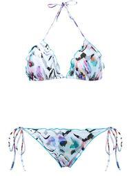zebra print triangle bikini set Brigitte