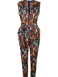 v-neck printed jumpsuit Andrea Marques