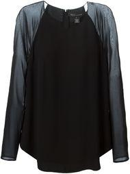 блузка с контрастными рукавами-реглан Ralph Lauren Black