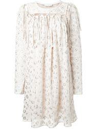 жаккардовое платье с леопардовым принтом Chloé