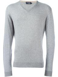 свитер c V-образным вырезом   Hackett