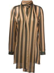 полосатая блузка с деталью в виде шарфа Petar Petrov