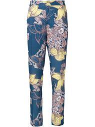 брюки с цветочным принтом   Yigal Azrouel