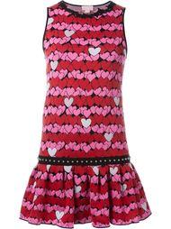 платье с принтом сердец Giamba
