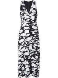 платье с абстрактным цветочным принтом Yigal Azrouel