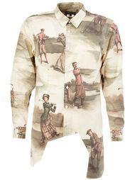 рубашка асимметричного кроя с принтом  Comme Des Garçons Homme Plus