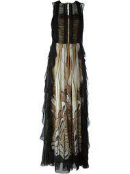 длинное платье с вышивкой Alberta Ferretti