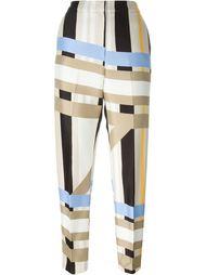зауженные брюки с геометрическим принтом MSGM