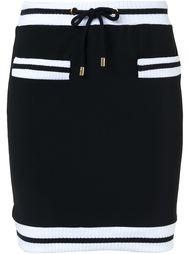 мини-юбка с контрастной окантовкой Moschino