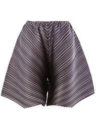 шорты с гофрированным дизайном  Pleats Please By Issey Miyake