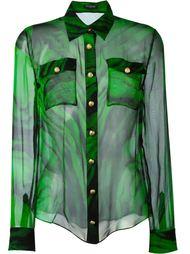 рубашка с принтом  Balmain