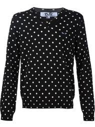 свитер в горошек с V-образным вырезом Comme Des Garçons Play