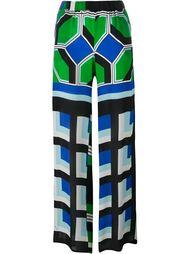широкие брюки с геометрическим принтом P.A.R.O.S.H.