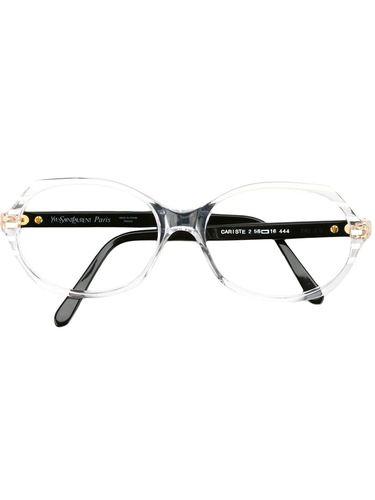 очки с овальной оправой Yves Saint Laurent Vintage