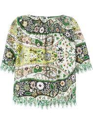 блузка с цветочной вышивкой  Etro