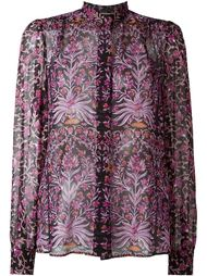 полупрозрачная рубашка с цветочным узором Giambattista Valli