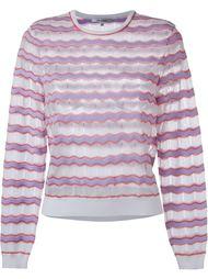 свитер с зигзагообразным узором  Carven