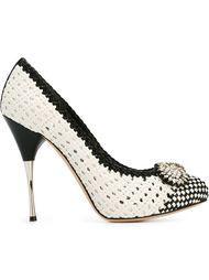 декорированные туфли  Alexander McQueen