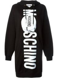 платье-толстовка с принтом-логотипом Moschino