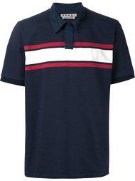 футболка-поло с контрастными полосками Marni