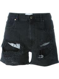джинсовые шорты с потертой отделкой Gaelle Bonheur