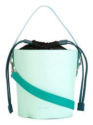 сумка-мешок в стиле колор-блок  J.W.Anderson