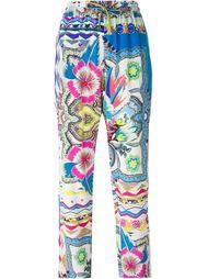 брюки с комбинированным принтом Etro