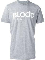 футболка с принтом логотипа   Blood Brother