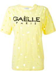 перфорированная футболка  Gaelle Bonheur