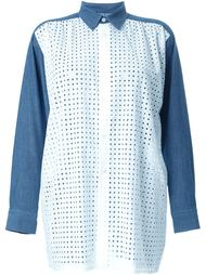 рубашка с джинсовыми вставками  Junya Watanabe Comme Des Garçons
