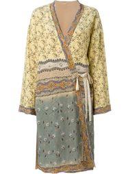пальто-кимоно с цветочным принтом   Etro
