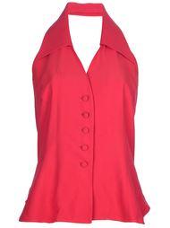 блузка с лямкой через шею Moschino Vintage